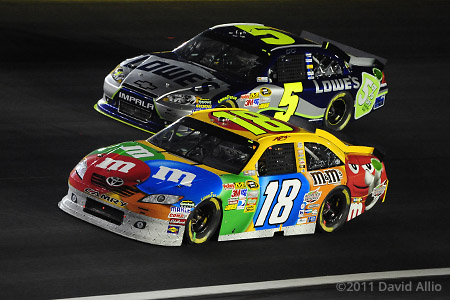 Charlotte Motor Speedway 2011 Kyle Busch Jimmie Johnson