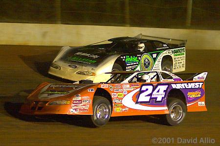 Cherokee Speedway 2001 Rick Eckert Scott Bloomquist