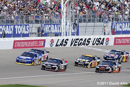 Las Vegas Motor Speedway 2011 Kevin Harvick Brad Keselowski