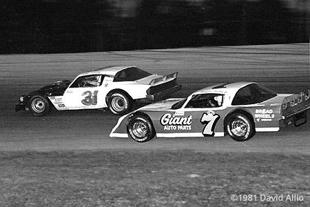 Five Flags Speedway 1981 Bobby Foster Chevrolet Hut Stricklin Chevrolet 14th Annual Winston Snowball Derby NASCAR Grand American Stock Car