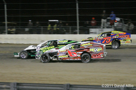 The DirtTrack at LVMS 2011 Terry Phillips Ricky Alvarado Dominic Ursetta 14th Annual Duel in the Desert IMCA Modified