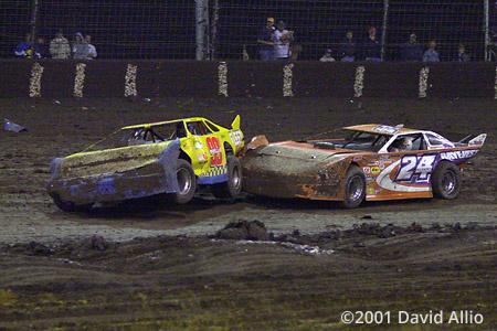Texas Motor Speedway Dirt Track 2001 Edwin Wells Pontiac Rick Eckert Ford Albertson