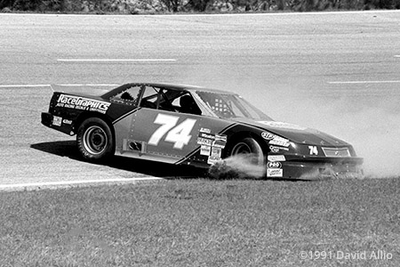 Five Flags Speedway 1991 David Ridling spins NASCAR Winston AllPro Series