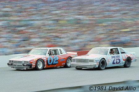 Nashville International Raceway 1981 Mark Martin Pontiac Tim Richmond Chevrolet