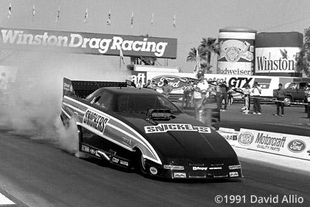 Firebird International Raceway 1991 Mike Dunn NHRA Winston Drag Racing Series Funny Car