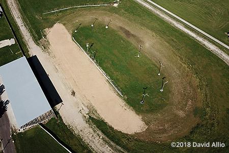 Bond County Fairgrounds Greenville Illinois dirt kart oval aerial photograph 2018