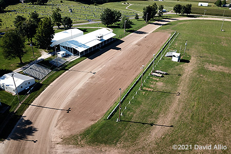 Brown County Fairgrounds Mount Sterling Illinois pull track aerial photograph 2021
