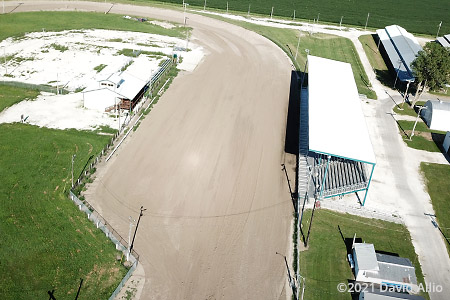 Schuyler County Fairgrounds Rushville Illinois pull track aerial photograph 2021