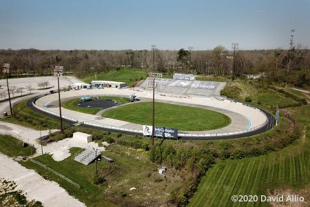 Indianapolis Velodrome Indianapolis Indiana short track concrete oval aerial photograph 2020