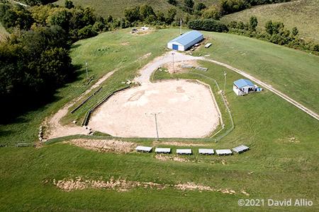 Northern Kentucky Fairgrounds Williamstown Kentucky demolition derby track aerial photograph 2021