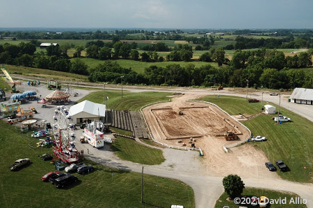 Owen County Fairgrounds Owenton Kentucky aerial photo dirt motorsports track 2021
