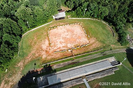 Rotary Raceway Stuart Virginia dirt oval aerial photograph 2021