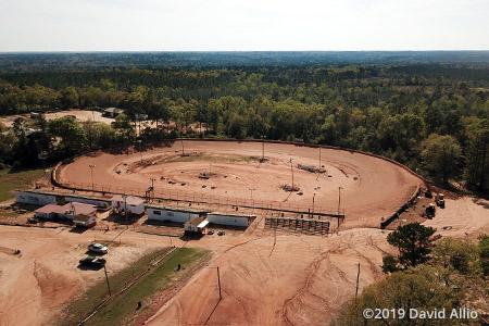 Flomaton Speedway Flomaton Alabama aerial photo short track dirt oval 2019