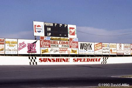 Sunshine Speedway St Petersburg Florida 1990