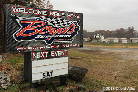 Boyds Speedway Ringgold Georgia dirt oval 2018