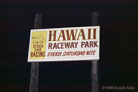 Hawaii Raceway Park Ewa Beach Oahu Hawaii 1989