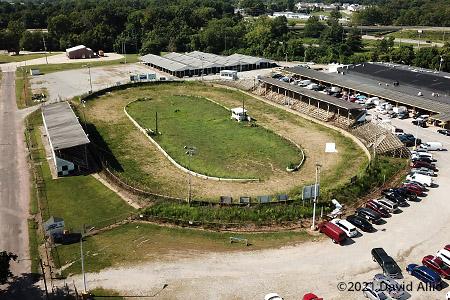 Belle-Clair Speedway Belle-Clair Fairgrounds Belleville Illinois short track dirt oval aerial photograph 2021