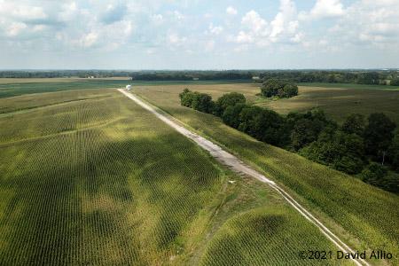 CMW Dragway Paris Illinois paved drag strip aerial photograph 2021