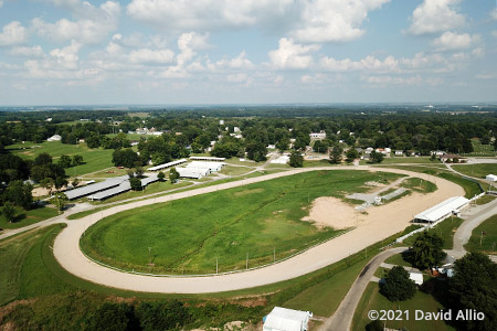 Edwards County Fairgrounds Albion Illinois short track dirt oval aerial photograph 2021