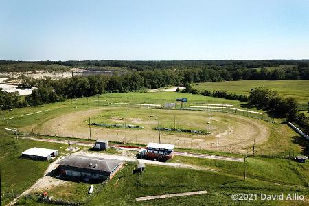 Quincy Raceways Quincy Illinois aerial photograph short track dirt oval 2021