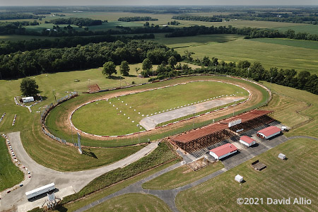 Red Hill Raceway Sumner Illinois aerial photograph short track dirt oval 2021