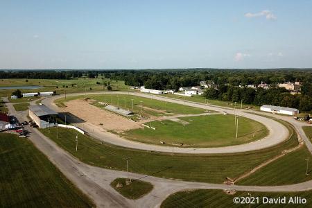 Wayne County Fairgrounds Fairfield Illinois aerial photograph short track dirt oval 2021