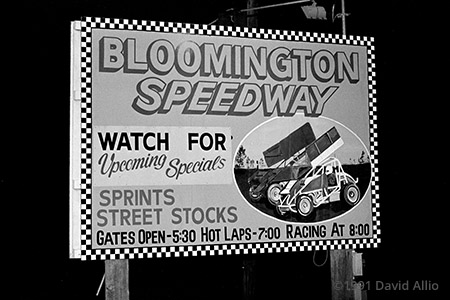 Bloomington Speedway Bloomington Indiana 1991