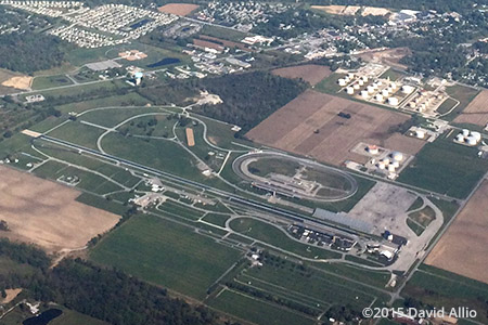 Indianapolis Raceway Park paved road course Clermont Indiana 2015 Lucas Oil Raceway at Indianapolis Brownsburg Indiana aerial photograph
