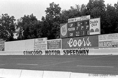 Concord Motor Speedway Midland North Carolina 1988