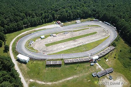 East Carolina Motor Speedway Robersonville North Carolina paved short track aerial photography 2021