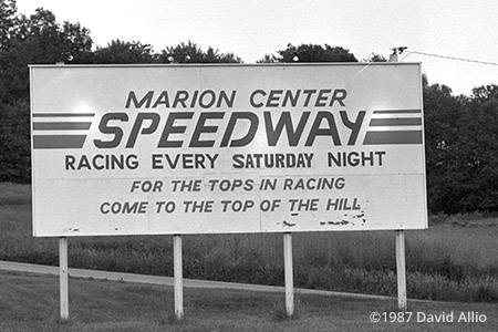 Marion Center Speedway Marion Center Pennsylvania 1987