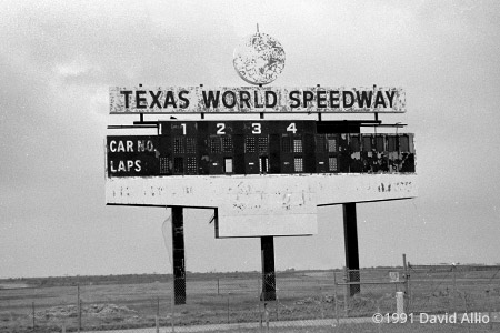 Texas World Speedway College Station Texas 1991